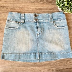 America Eagle Outfitters Light Wash Denim Skirt